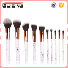 Guteng 2017 Factory OEM Cosmetic Makeup Brushes High Quality Private Label Marble Handle Makeup Brush Set