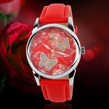 lady fashion leather quartz watches