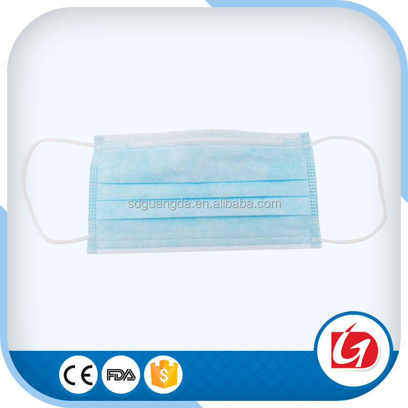 3 Layer Non-woven Fabric Disposable Surgical Dust Filter Ear Loop Mouth Cover Pack of 50