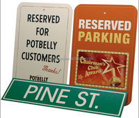 hotsale outdoor aluminum metal parking sign