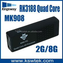 rk3188 mk908 micracast tv dongle with bluetooth