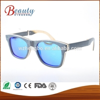Wood frames sun glasses bamboo logo sunglasses China Online selling