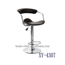high quality PVC Leather swivel bar chair for commercial furniture