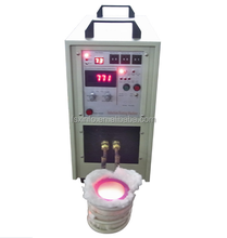 High Frequency Small Electric Aluminum Induction Melting Furnace (HF-15KW-2KG)
