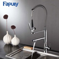 Fapully griferia pull out three way kitchen tap torneira RV kitchen sink faucets
