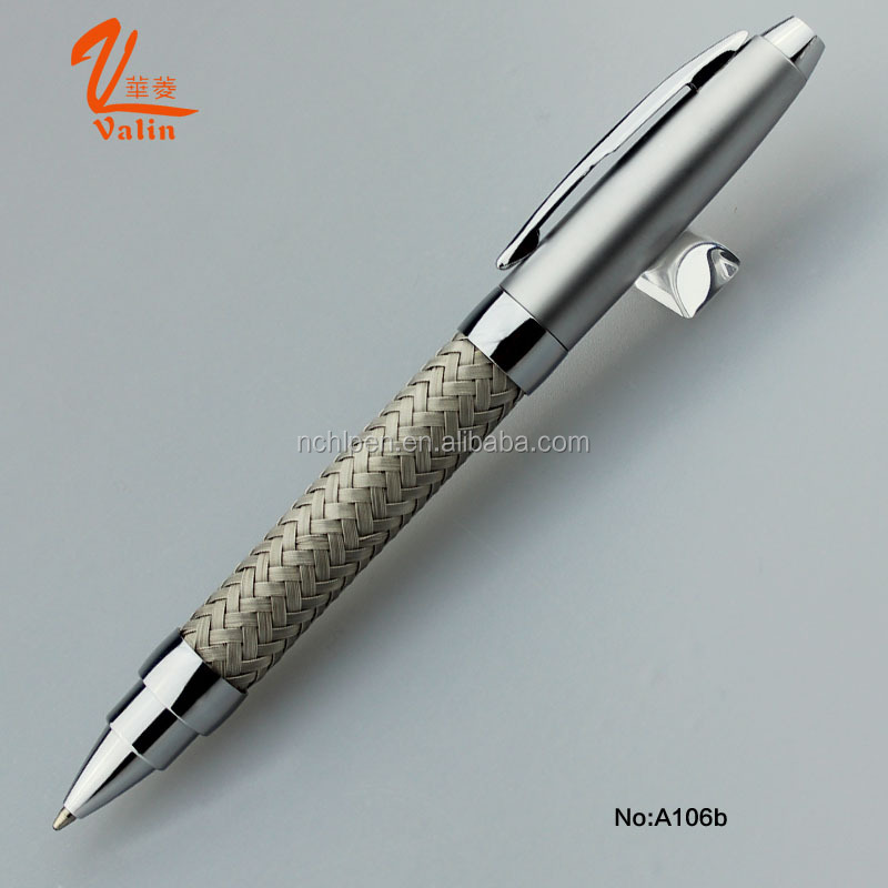 2016 Novelty Luxury Stainless Steel Wire Braided Metal Pen for Business Gift