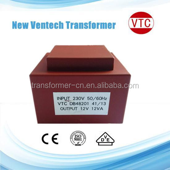 EI series Electronic encapsulated transformer 230V 50Hz 12VA manufacture direct sales