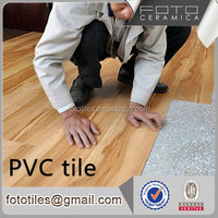 Foshan wood pattern plastic pvc vinyl tile peel and stick tile