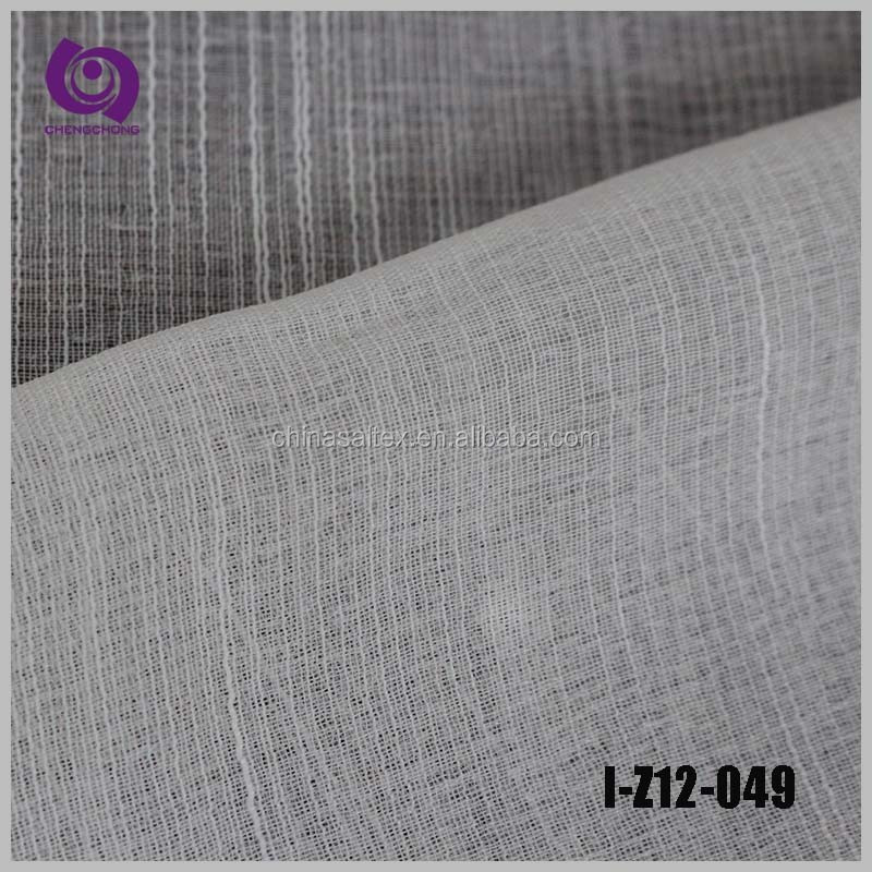 Textile Factory Sale Poly Stripe Jacquard Linen Voile Curtain Drapery Fabric