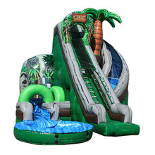 newest design Coconut Falls corkscrew inflatable water slide/ waterslide/ wet dry slide factory price