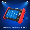 AHD+CVI+TVI+SDI+IP+Analog full function camera tester with emergency LED lighting