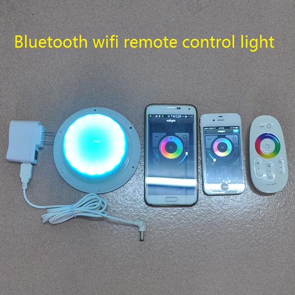 in stock wireless portable rechargeable small battery powered operated RGB Led furniture under table decoration Light