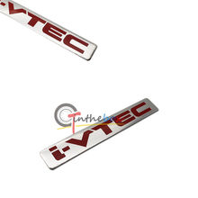 Aluminum letter i-VTEC car sticker auto fender decal emblem for Honda Accord CRV