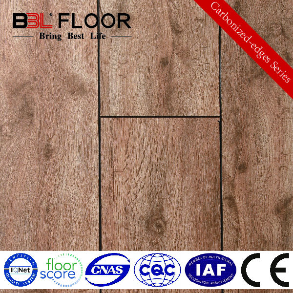 12mm AC3 Crystal Carbonized Series Standard Finish floor board 707-1