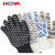 Colored cotton double layer heat insulation gloves 932 F cooking oven mitts heat protection gloves