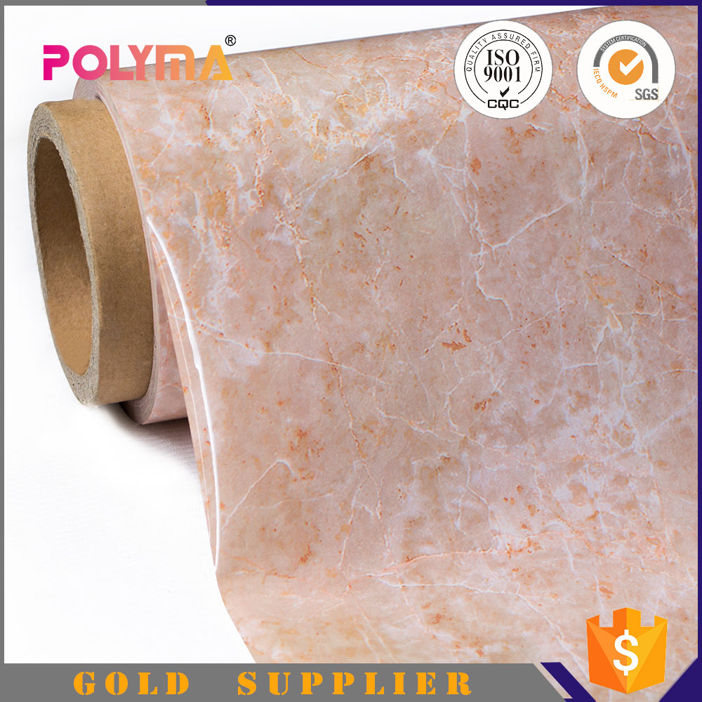 Polyma Home Appliance Decoration Deep Process Self Adhesive and Heat Laminate Marble Stone Vinyl Furniture Film