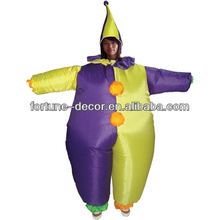 Party Costume inflatable fancy clown costume