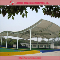 Morden style inflatable membrane structure building