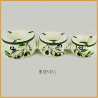 Low price wholesale ceramic printed flower pot ashtray