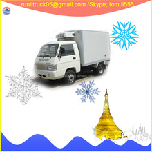 Foton baorui BJ1046V9JB5-H1 left hand drive diesel mini van refrigerator 4*2 1ton for sale in togo