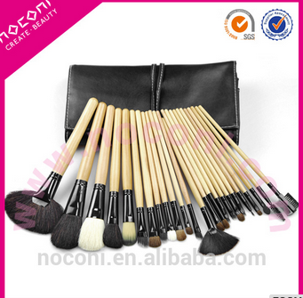 Alibaba Best selling private label 42pcs synthetic hair makeup brush professional makeup brush with Black+ Silver color