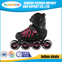 Professional four PU wheel detachable kick roller shoes inline speed skates for sale