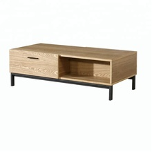 Modern MDF wood coffee table with drawer