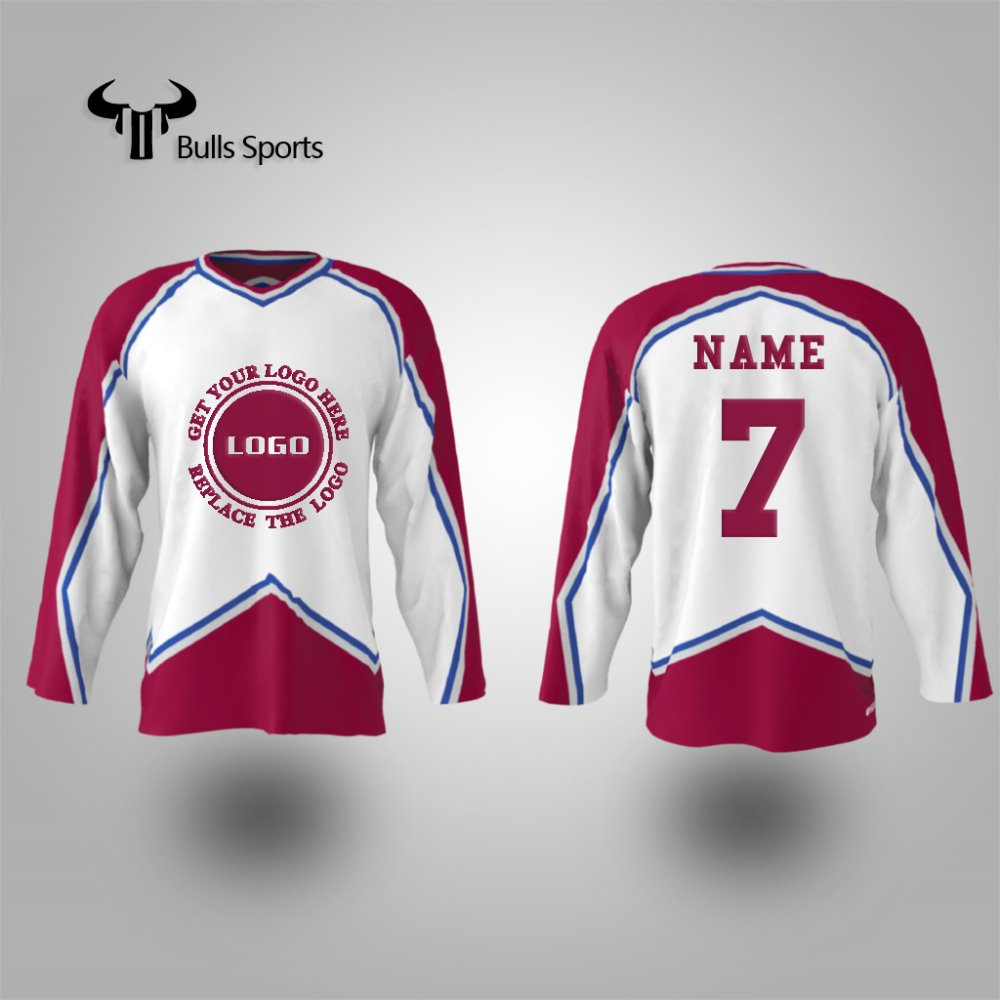 Factory sale ice hockey wear custom half and half jerseys