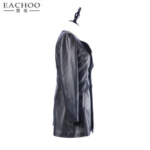 New fashion black PU leather jackets for women manufacturer in China