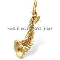 cheap hotsell gold plated horn of plenty charm