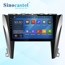 Quad Core 1024*600 Head Unit Android 5.1.1 Car Radio Audio Stereo for Toyota Camry 2015 2 Din Car Navi Bluetooth WIFI CANBUS
