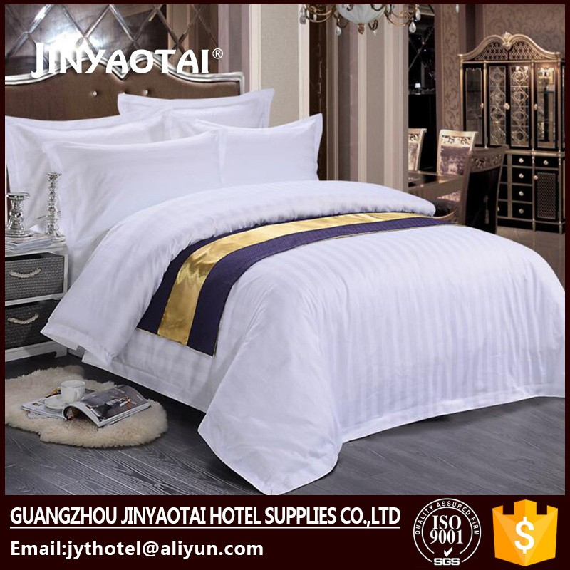 100% Cotton Hotel Stripes Bedding Sets Ropa de Cama Para Hoteles