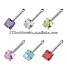 Nose pin heaet/star shaped body piercing jewelry