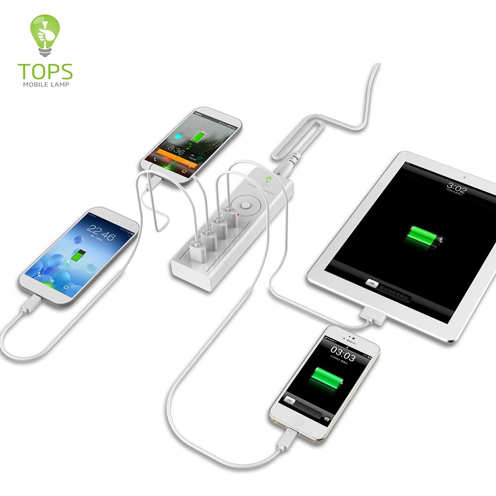 High compatibility 4 PORTS MULTI mobile phone super charger WITH smart IC INSIDE