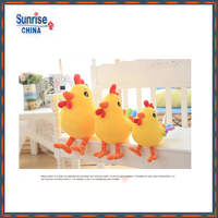 Promotional gift colorful plush chicken toy to kid fashion custom cute stuffed soft toy plush animal chicken