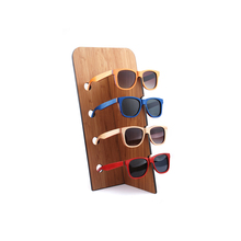 Wholesale Custom Natural Bamboo Display Stand For Sunglasses