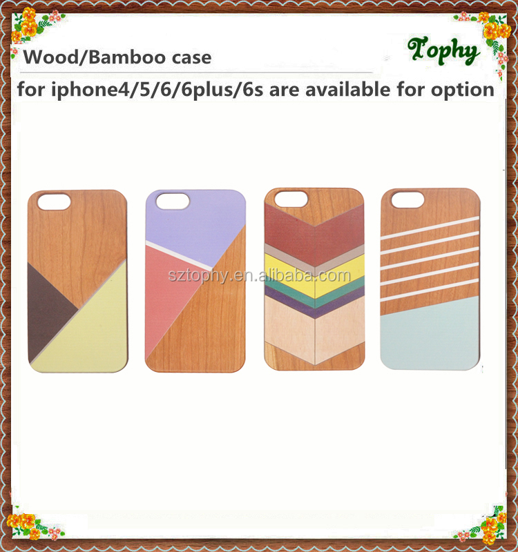 Personalized Printing Natural professional factory wholesale wood+pc mobile phone cover for iphone5 6 6plus