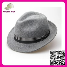 high quality fashion Handmade Vintage Fedora Wool Felt Stylish men wool felt hats