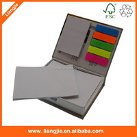 Paper hardcover holder memo pad, sticky notepads