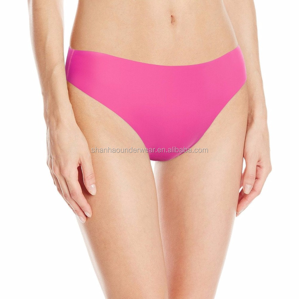 Women's seamless laser cut brief wave edges nylon panty