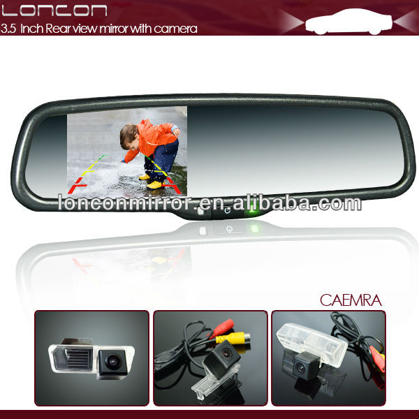 3.5inch rearview mirror with camera special for 2014 Ford Ranger