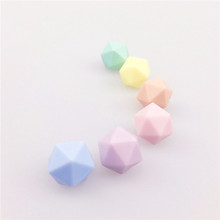 14mm Silicone Icos Beads Candy Color Chew Beads Safe Baby Teether