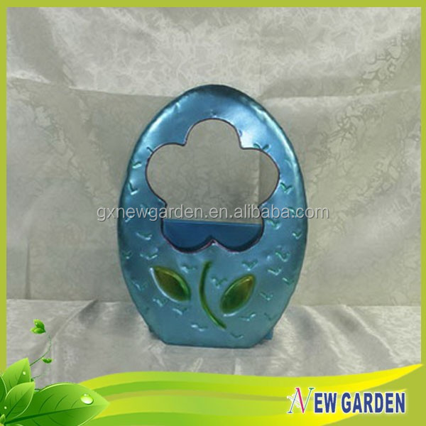 Top Selling New Style Home Decoration Products Metal Egg Shape Flower Pot