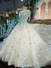 Applique beautiful luxury sleeveless women Wedding Dress Ball Gown wholesale in Guangzhou