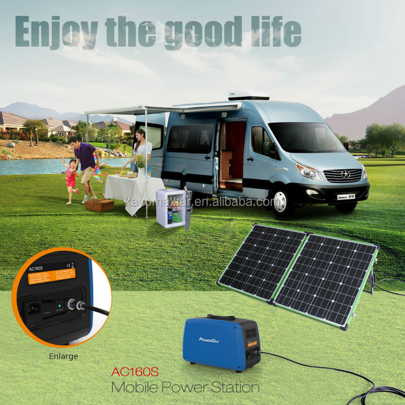 2016 PowerOak solar generator 1kw 500w with lithium battery, pure sine inverter and AC charger