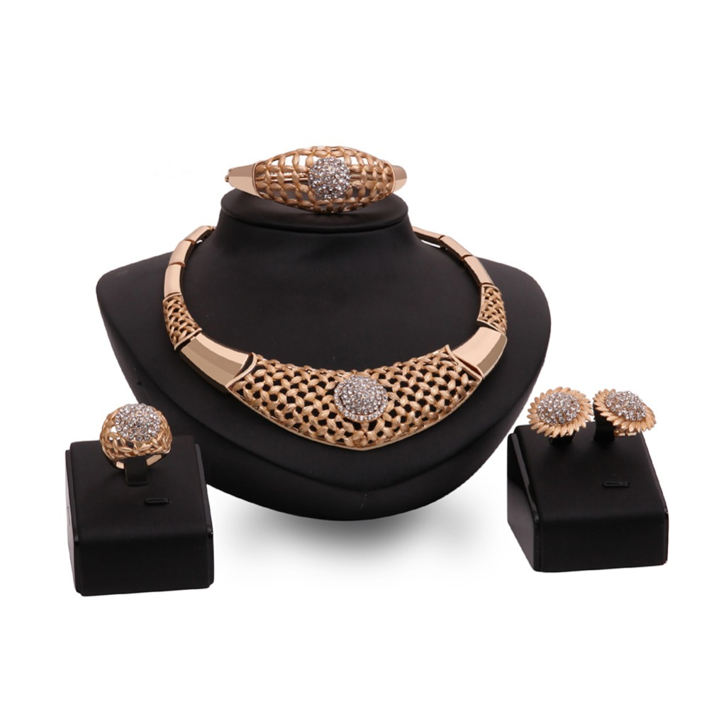 african pearl 18k gold plated jewelry set beautiful pearl jewelry set