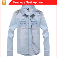 long sleeve denim shirts ladies shirts (PSA1504-12)