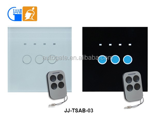 Touch screen wall switch 3 gang 220V rf remote control for smart home JJ-TSAB-03