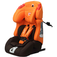 Isofix installation portable adult car booster seat orange design for group 1+2+3