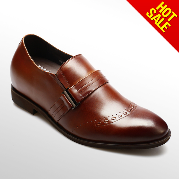 Inner heel shoes for men/elevator shoes/high end mens leather shoes